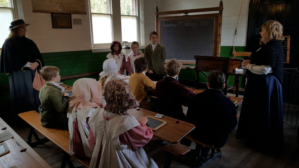 yr  five go back to school in a victorian town