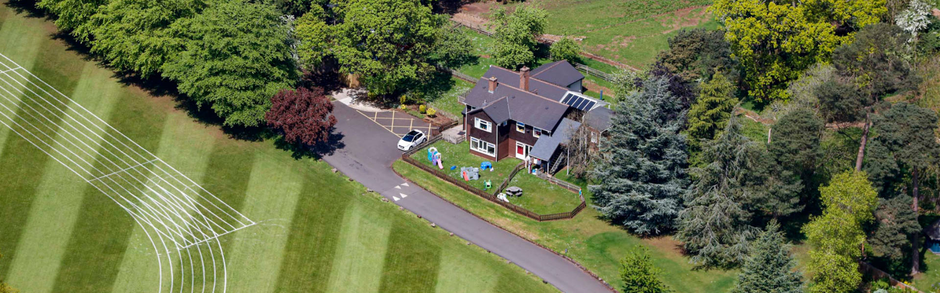 WF Nursery aerial shot